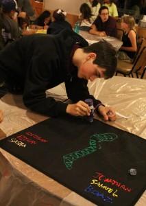 Making the Degel (Hebrew for Flag)2